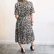 Animal Print High Neck XXVI London Dress Back View