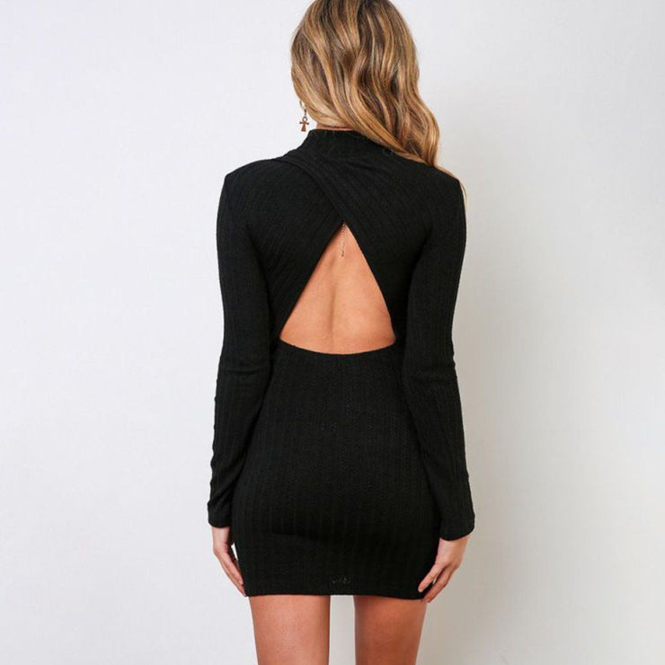 Black Bodycon Dress Back