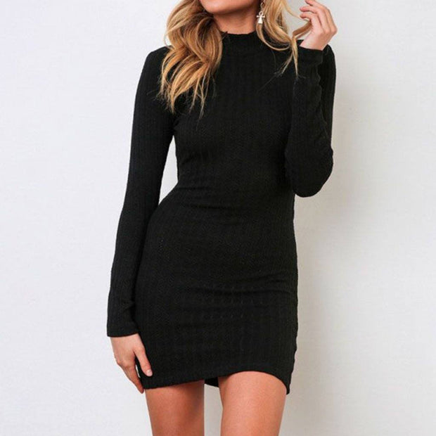 Black Bodycon Dress Front