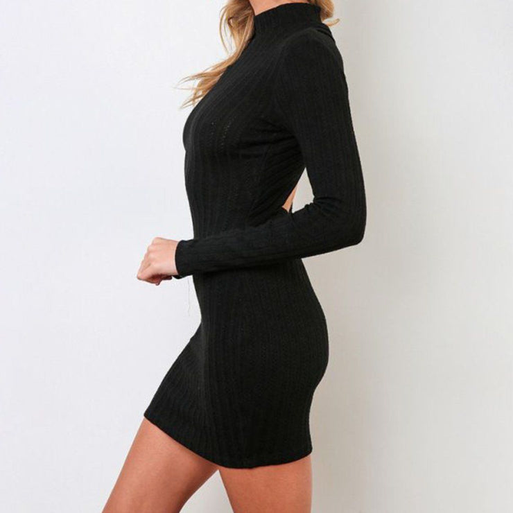 Black Bodycon Dress Side