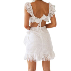 Cheryl White Lace Mini Dress XXVI London