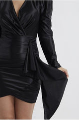 Women's Black Bodycon Cocktail Dress