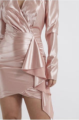 Women's Pink Bodycon Cocktail Dress
