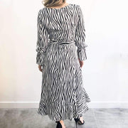 Zebra Print Wrap XXVI London Midi Dress Back View
