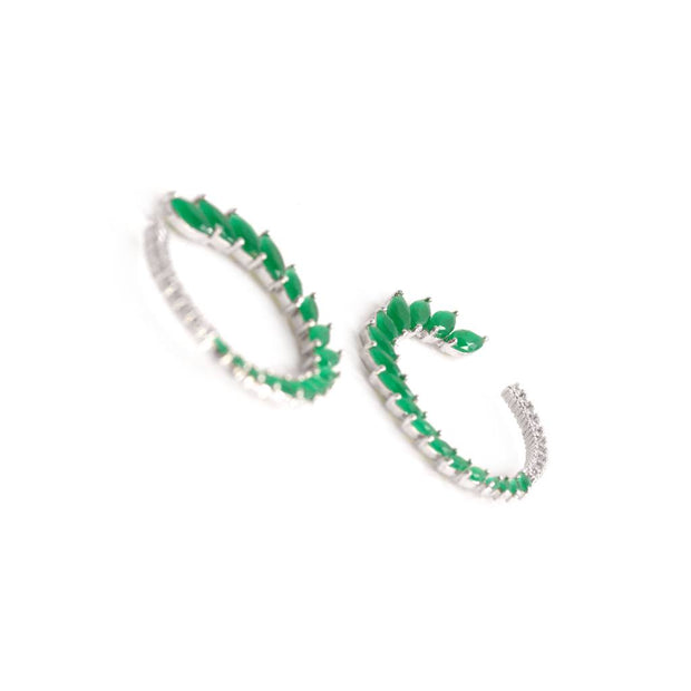 Green Marquise Earrings