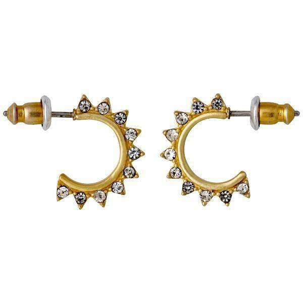 Half Hoop Gold Plated Pilgrim Earrings