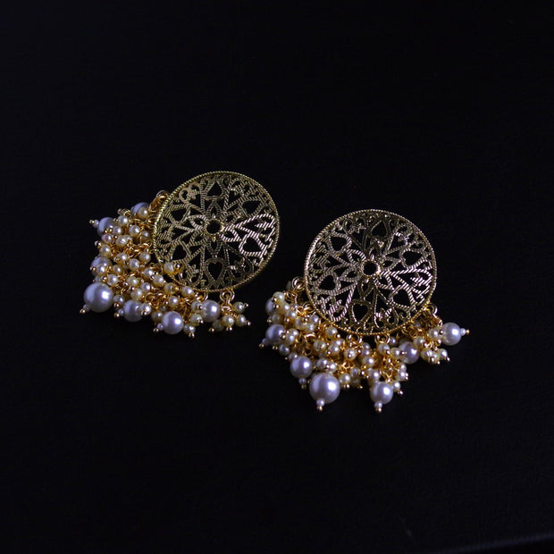 Helios Gold/Black Gold Plated Earrings