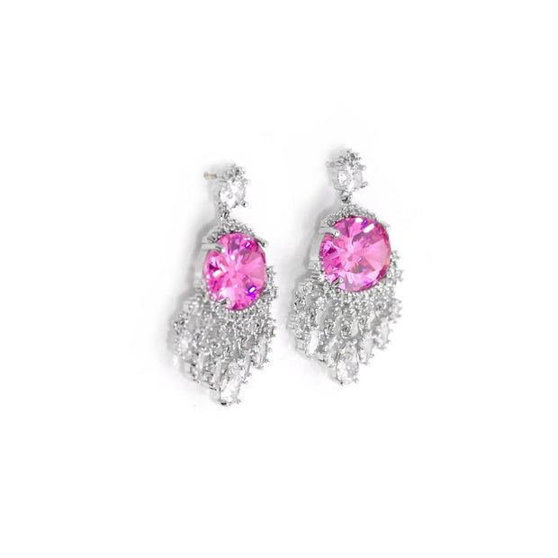 Pink Sparkly Earrings