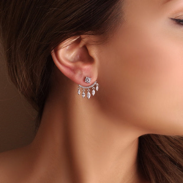 Silver Jacket Earrings