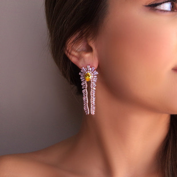True Native American Statement Rose Gold/Silver Earrings