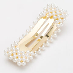 Large Gold  Pearl Hair Clip