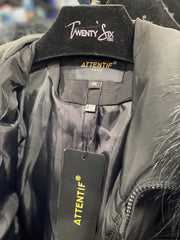 Khaki Parka Coat Wonderful Lettering