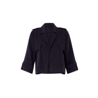 Cropped Coster Copenhagen Trench Jacket - Front View
