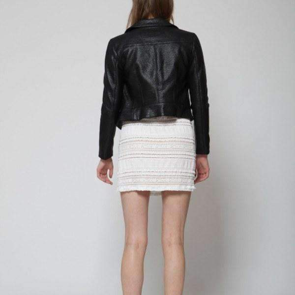 Hustle Faux Leather Goldie Jacket Back View