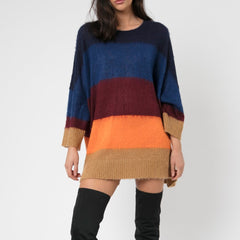 Religion Cresent Multicolour Stripe Jumper Ensign Blue & Stella