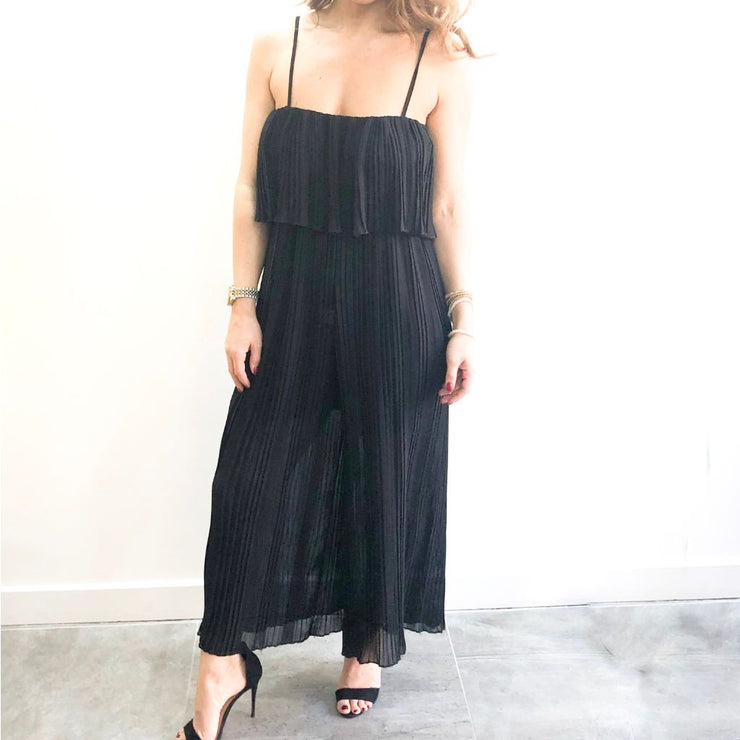 Pleated Strappy XXVI London Jumpsuit Front View