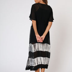Eclipse Religion Black and White Kaftan Back View
