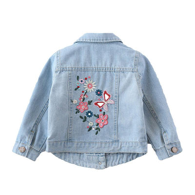 Girl's Floral Denim Jacket