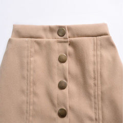 Girl's Tan Cotton Skirt