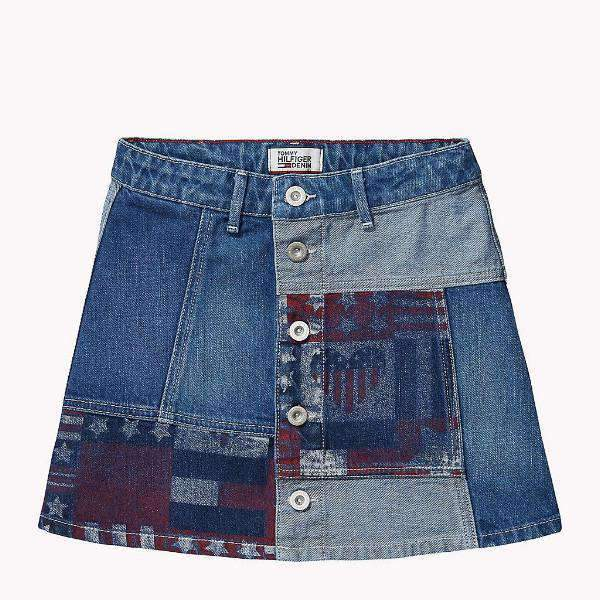 Girls Denim Patch Tommy Hilfiger Skirt
