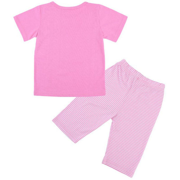 Girls Flamingo short set pyjamas