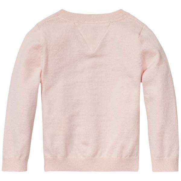 Long Sleeve Tommy Hilfiger Cardigan - Back View - Pink