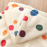 Polka Dot Multi Coloured Hoodie