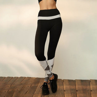 Black Contrast Gym Leggings