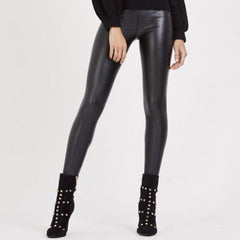 Black PU Skinny Leather Leggings