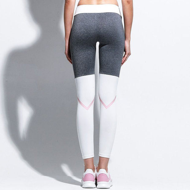 Grey & Pink Contrast Gym Leggings