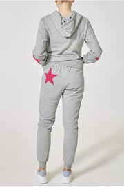 Women's Grey Fuchsia Star Jumper Set