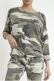 Women's Khaki Camo Print Co-ord