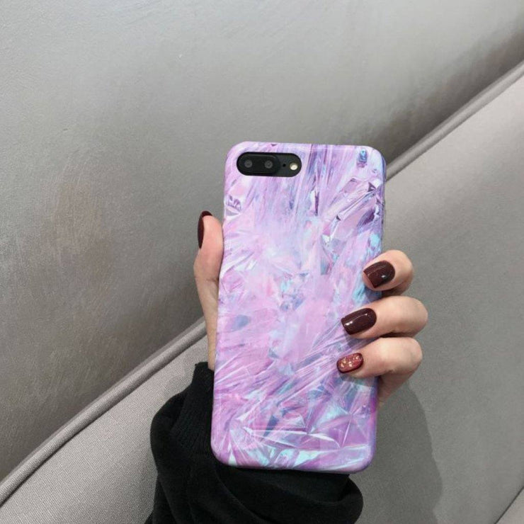 Purple Abstract Design iPhone Case
