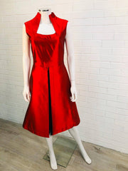 Women's Red Mid Dress by Alexander McQueen