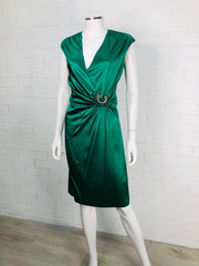 Women's Silk Dress With Snake Logo by Roberto Cavalli