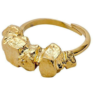 GOLD PLATED PILGRIM TEXTURED RING
