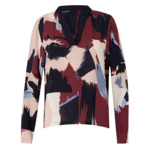 Paint Print Coster Copenhagen Long Sleeve Shirt - Front View
