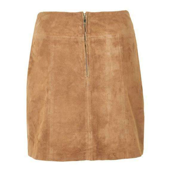 KRISTIN GESTUZ SUEDE SKIRT BACK VIEW