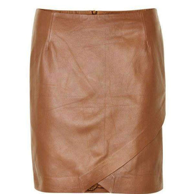 NERIDA LEATHER SKIRT SOAKED SKIRT - TWENTY SIX Fashion