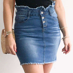 High Waisted XXVI London Denim Skirt Item View