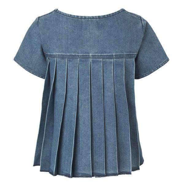 DENIM PLISSE BLAKE MADS NORGAARD TOP BACK VIEW