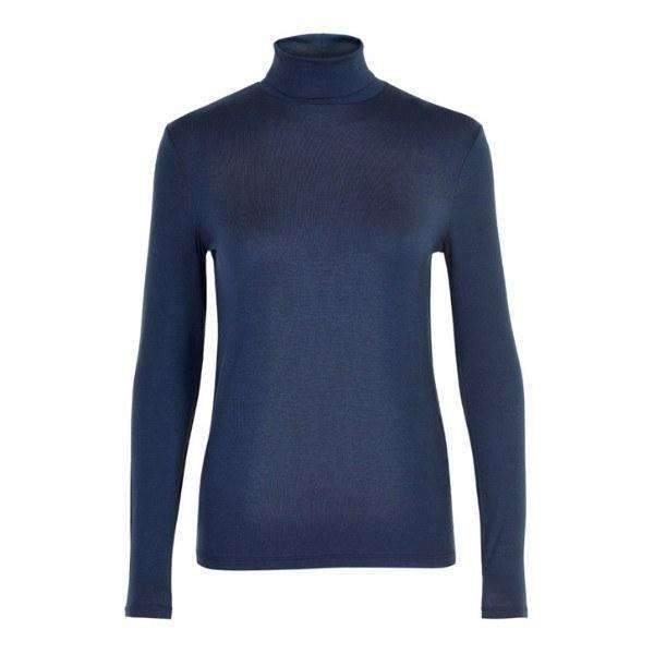 Elisse Soaked Turtleneck Front View Navy