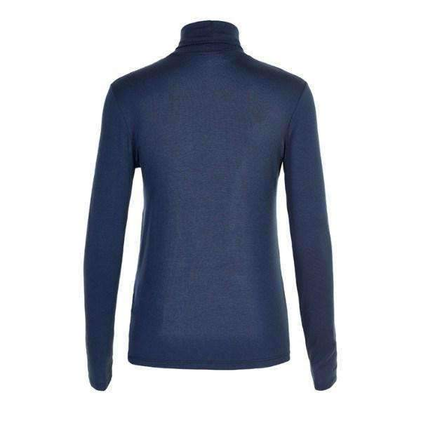 Elisse Soaked Turtleneck Back View Navy