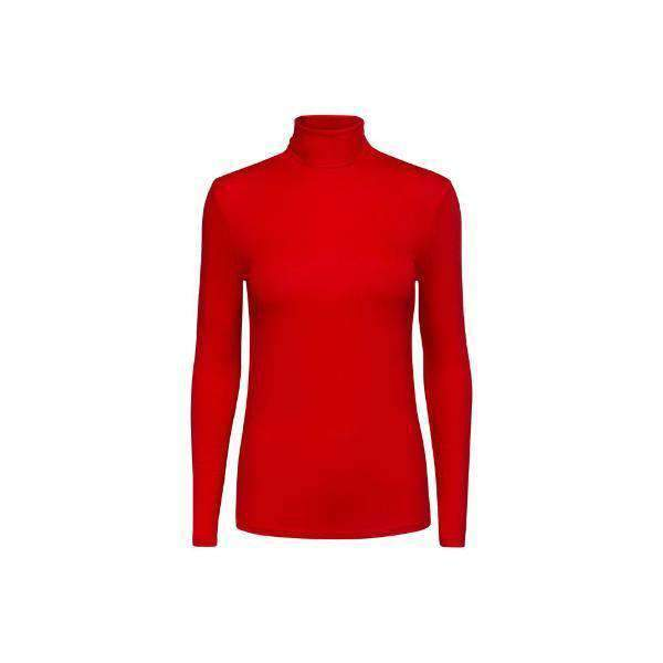 Elisse Soaked Turtleneck Front View Red