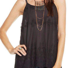 VINTAGE LACE DOUBLE STRAP V BACK CAMI CHASER TOP - TWENTY SIX Fashion