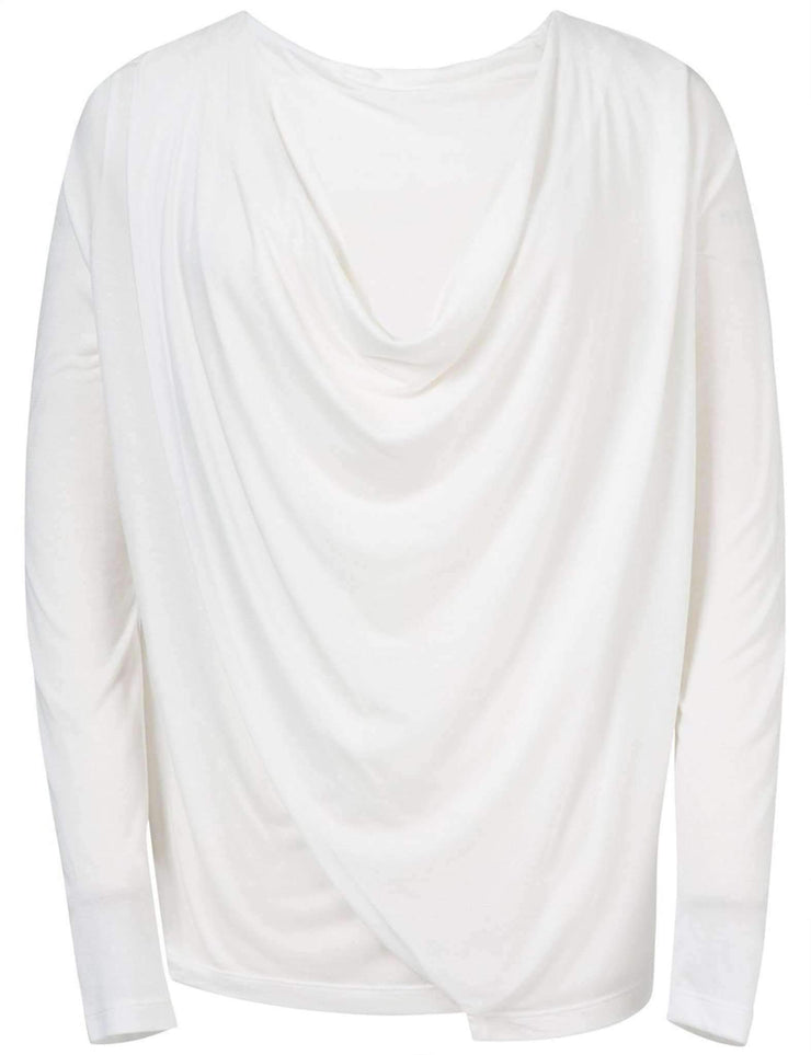 JOSEFINA DRAPY JERSEY FRONT VIEW OFF WHITE