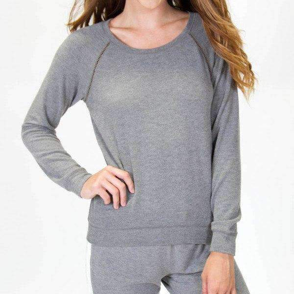 Longe Sleeve PJ Salvage Lounge Top Front View