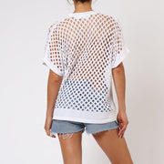 Splash Religion Oversized Top White Back View