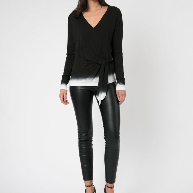 Immersion Long Sleeve Top black & White