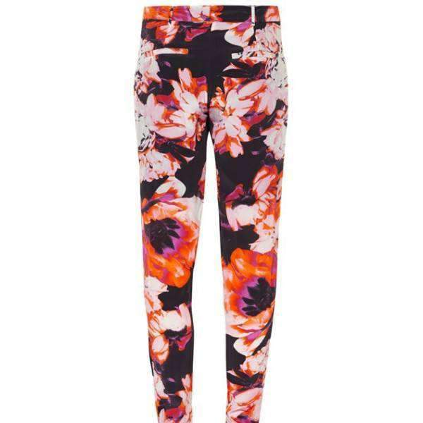 Loose Fit Floral Print Trousers